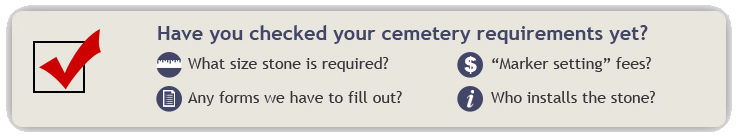 Have you checked your cemetery requirements yet?